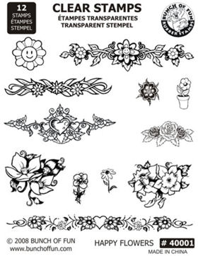 Flower Clear Acrylic Stamps